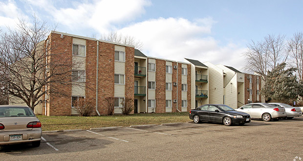 This 108-unit apartment complex at 1829 Furness St. N. in Maplewood was one of two multifamily properties involved in a 1031 exchange totaling nearly $10.6 million. Submitted photo: CoStar