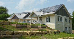 Habitat for Humanity's St. Croix Valley chapter has completed 14 of 18 homes in its high-performance affordable Eco Village development in River Falls, Wisconsin, including this house with solar roof panels. (Submitted photo)