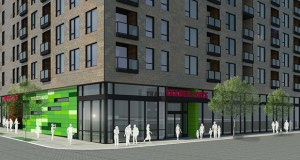 Trader Joe's is planning its next Twin Cities location in downtown Minneapolis, as part of a mixed-use development spearheaded by Sherman Associates on the block bordered by Washington Avenue, Chicago Avenue, Park Avenue and Third Street. (Submitted image: Preliminary rendering courtesy Trader Joe's copyright 2015)