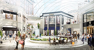 The Mall of America is poised for another expansion after Ryan Cos. and mall owner Triple Five Group submitted plans to add another 580,000 square feet of high-end retail in addition to a high-end hotel and residential units. The pitch coincides with rising demand for luxury offerings. (Submitted rendering: Bloomington Port Authority)