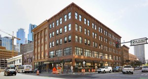 Chicago-based Coyote Logistics will move into the former Nate's Clothing building at 401 First Ave. N. in downtown Minneapolis. The deal comes less than three months after Minneapolis-based Swervo Development bought the 101-year-old property. (Staff photo: Bill Klotz)