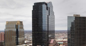 The Plaza Seven tower at 45 S. Seventh St. in downtown Minneapolis will be renamed in the coming months as PricewaterhouseCoopers prepares to become its newest and largest tenant. (File photo: Bill Klotz)