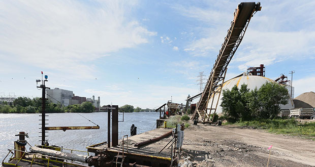 Minneapolis officials will begin soliciting development proposals for the Upper River Terminal site, also known as the Port of Minneapolis, in about six months. The 48-acre property is considered the crown-jewel redevelopment opportunity along the Upper River. (File photo: Bill Klotz)
