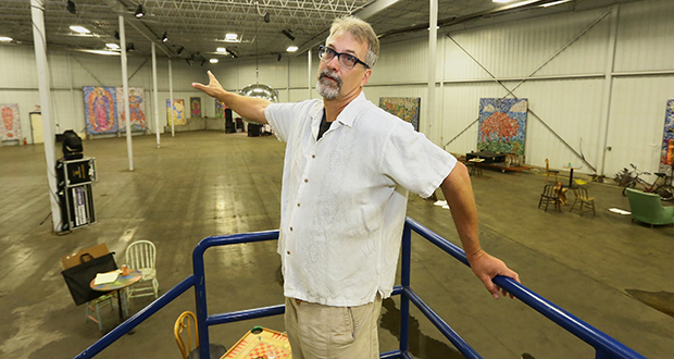 Bryn Mawr Brewing Co. cofounder Dan Justesen shows the forthcoming brewery's space, at 225 Thomas Ave. N. in Minneapolis. Justesen and his partners used a novel fundraising method to raise nearly $1.23 million. File photo: Bill Klotz
