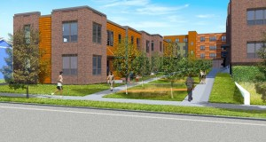 The city of Minneapolis is weighing an $800,000 tax increment financing package for a 75-unit affordable housing complex in north Minneapolis, part of the Hawthorne EcoVillage initiative that has already drawn substantial city investment. Submitted rendering: Urban Works Architecture