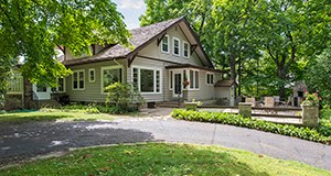The buyers of this 100-year-old home at 5145 Weeks Road in Greenwood will live there this summer while they draw up their plans to build a larger home on the 1-acre site along Lake Minnetonka. (Submitted photo: Spacecrafting)