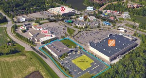 This aerial map shows the medical office building St. Paul developer Steve Wellington has bought at 3000 Hundertmark Road in Chaska and the adjacent land where he plans to build a new Goodwill retail store. Submitted photo: Wellington Management Inc.