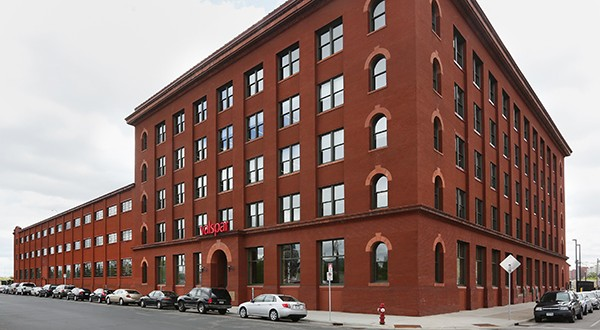 Minneapolis-based Valspar spent $40 million in 2014 to renovate 170,640 square feet of space in two buildings at 1101 S. Third St. in downtown into the Valspar Applied Science and Technology Center and executive offices. File photo: Bill Klotz