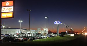 The New Prague Ford dealership is one of three New Prague properties that partners Mark Swelland and Gary Embretson have sold to Lakeville-based Jeff Belzer Auto Group. (Submitted photo)