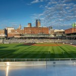 CHS Field's traditional-meets-modernist design complements its historic warehouse surroundings in St. Paul's Lowertown.