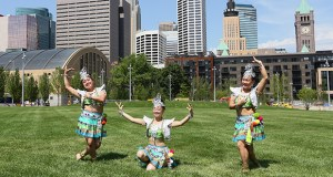 A dance troupe performed on the grass mall of the Commons park Thursday. Ryan Cos. constructed the 4.2-acre public space that covers two blocks near U.S. Bank Stadium and is bounded by Park Avenue and Fourth and Fifth streets. (Staff photo: Bill Klotz)