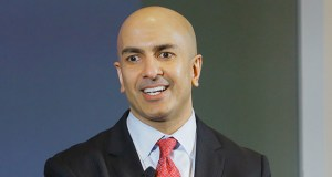 Federal Reserve Bank of Minneapolis president Neel Kashkari speaks in April to Minnesota Chamber of Commerce members about his high-profile push for tighter banking industry regulations. (File photo: Bill Klotz)