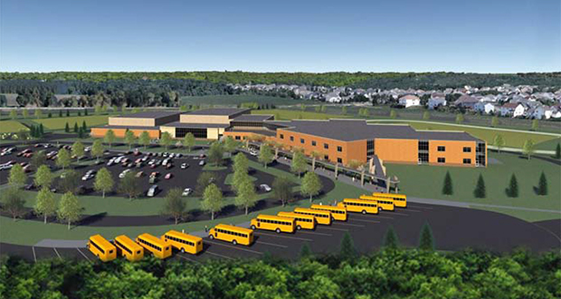 The future Oltman Middle School will rise at the intersection of 65th Street South and Geneva Avenue South in Cottage Grove, but the property also touches Newport and St. Paul Park. (Submitted image: South Washington County Schools)