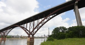 "The Minnesota Department of Transportation is requesting ""letters of interest"" from prospective contractors for the $25 million to $35 million rehab of this downtown St. Paul crossing, known as the Smith Avenue High Bridge. (File photo: Bill Klotz)"