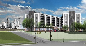 The Red Lake Band of Chippewa Indians purchased the more than 37,000-square-foot lot at 2109 Cedar Ave. in Minneapolis for $1.73 million, the group announced last week. Construction will start in 2018 on a six-story building with 115 affordable housing units, a clinic and other services. (Submitted Rendering: Cunningham Group)