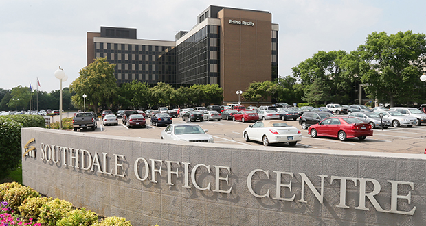 The Southdale Office Centre at 6600-6800 France Ave. in Edina was built in the early 1970s. It offers nearly 450,000 square feet commercial space, most of which is dedicated to office use. (File photo: Bill Klotz)