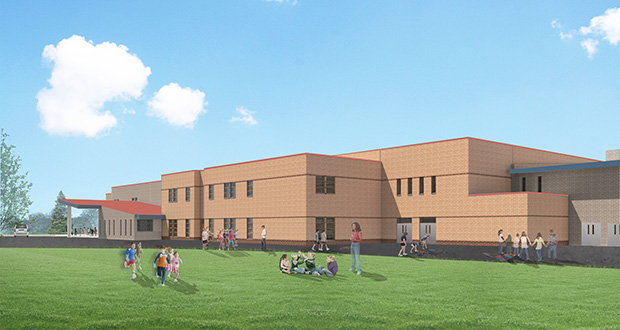 Kraus-Anderson was recently awarded a contract to manage a $93.9 million project that includes this expansion of Hudson High School, 1501 Vine St. in Hudson, Wisconsin. (Submitted rendering)