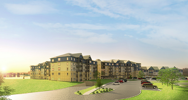 Roseville-based Presbyterian Homes has closed on the site for Orchard Path Senior Housing, a $54 million, 195-unit senior housing development on a 13-acre site in the Cobblestone Lake development in the southeastern corner of Apple Valley. (Submitted rendering)