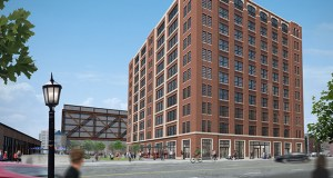 United Properties wants to build a 10-story office building and a seven-story apartment building on the eastern portion of a surface parking lot on the 700 block of Washington Avenue North in Minneapolis. (Submitted rendering: Hartman-Cox Architects)