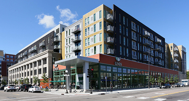 The Penfield, a 254-unit luxury mixed-use apartment complex at 101 E. 10th St. in downtown St. Paul, was developed and built by the city after a private developer pulled out of the project during the economic downturn. (File photo: Bill Klotz)