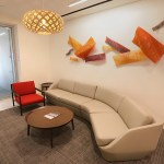 Waiting area adjacent to the reception desk.