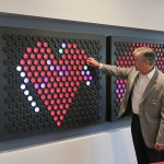 Tom Montminy, Managing Partner - Minneapolis/St Paul at PwC, operates a lite bright like display in a break area on the top floor of the building.