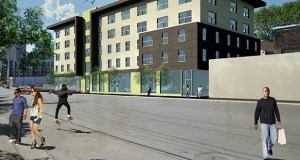 The Great River Landing Project at 813 N. Fifth St. in Minneapolis is waiting on the final Minneapolis City Council and Metropolitan Council votes to finalize funding for the $18.6 million project. (Submitted rendering: Beacon Interfaith Housing Collaborative)