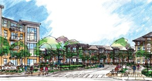 The proposed Southern Gateway project at 2501 Lowry Ave. NE in St. Anthony would offer five multifamily and senior buildings. (Submitted image: The Village LLC)