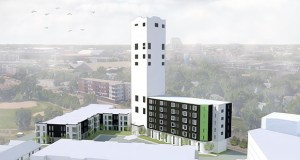 Project for Pride in Living's conversion of the Bunge grain elevators at 932 12th Ave. SE was one of 10 projects that received a portion of more than $9 million in affordable housing investments in Minneapolis. The group plans to create 150 mixed-income lofts. (File photo: UrbanWorks Architecture)