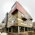 "This 90-unit mixed-income housing complex, known as ""the Rose,"" rose up on a brownfield site in Minneapolis. Minneapolis-based MSR's design ""incorporates many small measures that add up to significant sustainable gains without costing a lot of money,"" according to MSR's website. (File photo: Bill Klotz)"