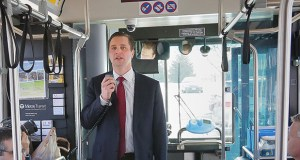 Metropolitan Council Chair Adam Duininck is renewing his push for a metro-area sales tax increase to fund transit after the council on Wednesday learned of an $89 million projected deficit for transit operations. (File photo: Bill Klotz)