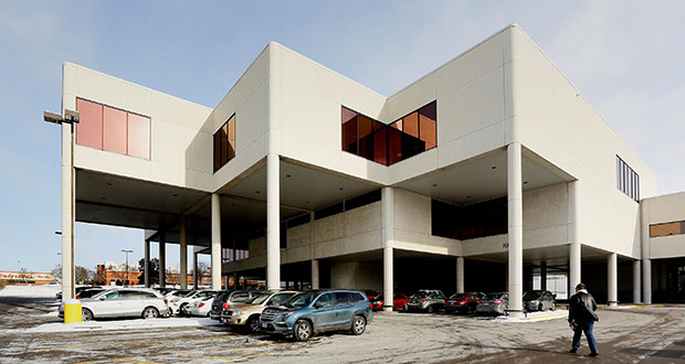 Edina and Hennepin County are looking to tear down the existing buildings and redevelop the 8-acre site at 7001 York Ave. S in Edina. The site will include a new library but also has room for other development, officials say. (Staff photo: Bill Klotz)
