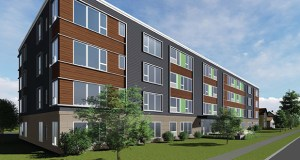CPM Cos. plans to build a 48-unit apartment building at 625-637 Erie St. SE in Minneapolis that will be priced to attract graduate students at the University of Minnesota and medical professionals working nearby. (Submitted image: DJR Architecture)