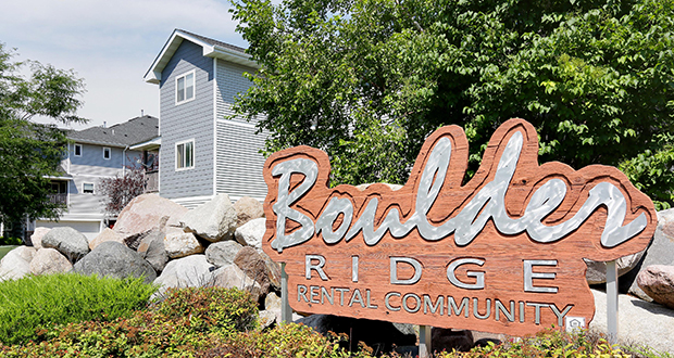 Last July CommonBond Communities purchased the market rate 112-unit Boulder Ridge apartments in Apple Valley with the help of social impact investors, in an effort to curb rising rents in naturally occurring affordable housing. (File photo: Bill Klotz)