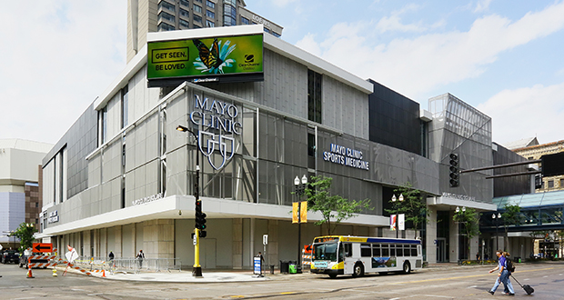 Camelot LLC, an entity connected to Minneapolis-based developer Alatus LLC, got occupancy at Mayo Clinic Square at 600 Hennepin Ave. up to 96 percent before selling it to Chicago-based LaSalle Investment Management. (File photo: Bill Klotz)
