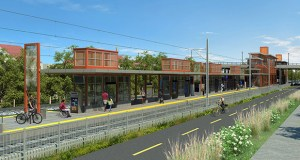The Metropolitan Council is delaying a bid opening for the civil construction package of the $1.858 billion Southwest Light Rail Transit project. The package includes a wide range of construction, including this West Lake Street Area station in Minneapolis. (Submitted rendering: Metropolitan Council)