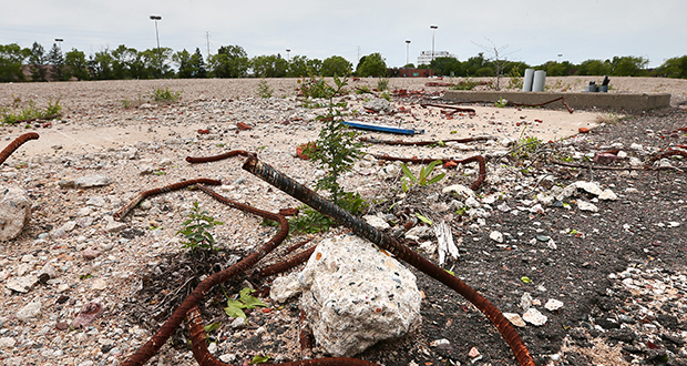 Last year Brooklyn Center demolished the vacant, 185,000-square-foot Brookdale Square at 5900 Shingle Creek Parkway. The city aimed to make the site shovel-ready for a mixed-use project but is still seeking a developer. (Staff photo: Bill Klotz)