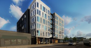 CPM Cos. plans to break ground next week on a mixed-use project that will renovate the existing Mortimer's Bar and Restaurant and build 75 apartments on the south side of the property at 2005-2017 Lyndale Ave. S. in Minneapolis. (Submitted rendering: DJR Architecture)