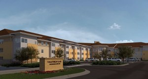Rochester, Minnesota-based Joseph Development is proposing a $12 million affordable apartment project in Mankato, using a design similar to this rendering for the Valleyhigh Apartments, now under construction in Rochester. (Submitted rendering: Miller Hanson Partners)