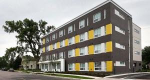 Clare Housing is opening its second location in northeast Minneapolis, a 36-unit building at 2525 Second St. NE called Marshall Flats. The project took about four years from conception to construction. (Staff photo: Bill Klotz)