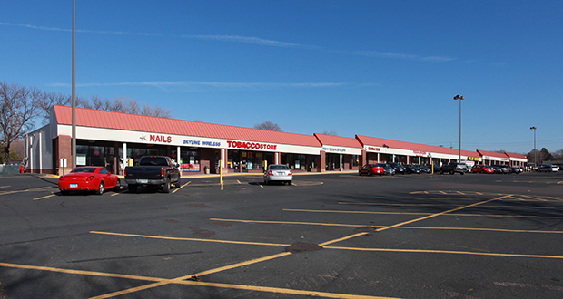 St. Louis Park-based Paster Properties is shifting its focus to new development and shedding some of its older retail properties, including the 82,478-square-foot Central Plaza shopping center at 725-755 45th Ave. NE in Hilltop. (Submitted photo: CoStar)