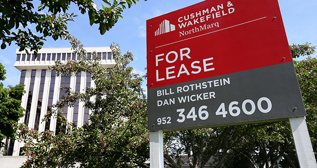 The NorthMarq name will be removed from Cushman & Wakefield/NorthMarq offices in the Twin Cities, including its headquarters at 3500 American Blvd W. in Bloomington. (Staff photo: Bill Klotz)
