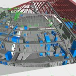 BIM technology was used to produce this 3-D digital representation of the Capitol roof above the House chamber. (Submitted image: HGA Architects and Engineers)