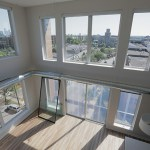 One of the two-bedroom loft apartments on the top floor of the Revel.