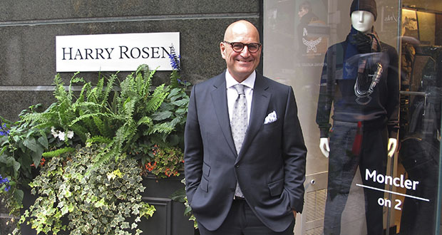 Larry Rosen, CEO of Harry Rosen, poses Aug. 17 at one of his high-end men's wear stores in Toronto. Rosen fears the Canada-wide chain founded by his father will be one of the casualties when the North American Free Trade Agreement is renegotiated by Canada, the U.S. and Mexico. His company and many other Canadian retail stores are worried that proposed changes to custom duties will cause them to lose customers to the U.S., especially from U.S. online retailers. (AP Photo: Robert Gillies)