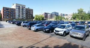 The Federal Reserve Bank of Minneapolis would keep this surface parking lot, at 24 Second St. N. in the North Loop, to serve its visitors and employees. (Staff photo: Bill Klotz)