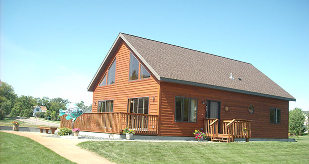 The Homark Co. Inc. in Red Lake Falls has modified the design of its usual modular homes, like the one seen here, to create a slightly smaller version for the Nordic Star workforce housing community being built in Grand Marais. (Submitted photo: The Homark Co. Inc.)