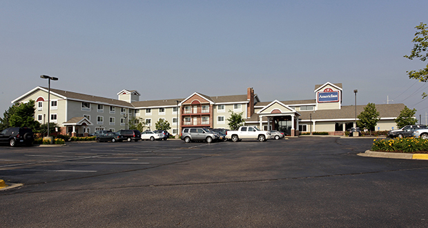 The 77-room AmericInn Hotel & Suites at 570 Pond Promenade in Chanhassen is one of three Twin Cities hotel properties acquired by Oklahoma-based Champion Hotels after Chanhassen-based Northcott Hospitality sold its AmericInn brand for $170 million. (Submitted photo: CoStar)