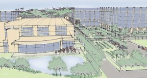 This vision for a business campus development at Highway 55 and Douglas Drive in Golden Valley was included in a 2009 concept plan. The city of Golden Valley sees new momentum for redevelopment in the corridor. (Submitted rendering)