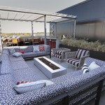 Two entertainment suites on the sixth floor open onto a deck.